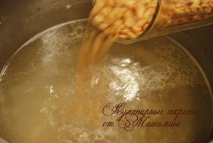 суп гороховый с чесночными рулетиками