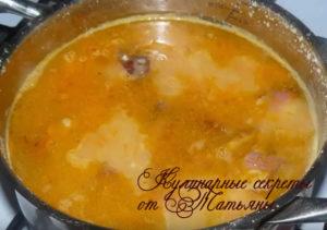 гороховый суп как приготовить с копченостями