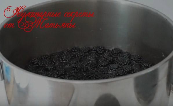 заготовка ежевики варенье