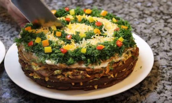 печеночный торт классический рецепт