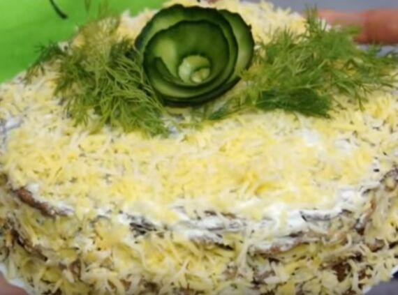 печеночный торт с кабачками