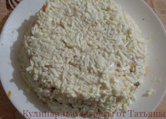 салат мимоза с консервой