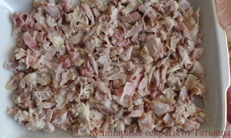 салат новогодний грибная поляна