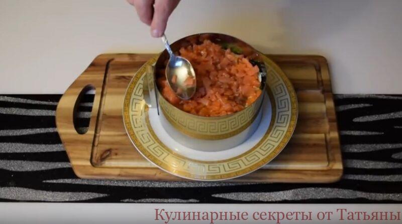 салат новогодний с красной рыбой