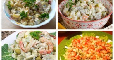 салат оливье с мясом